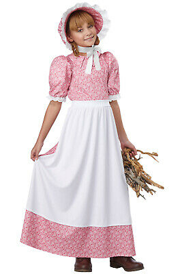 Brand New Early American Colonial Pioneer Girl Child Costume