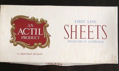 "VINTAGE BED SHEETS  - Actil - BRAND NEW BOXED NEVER USED - 72"" X 100 """