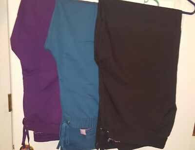LOT of 3 Healing Hands Purple Label Scrub Pants, Size XL - Gently Used