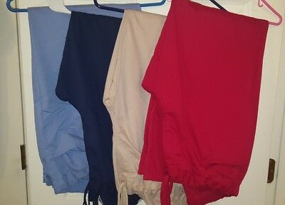 LOT of 4 Grey's Anatomy Scrub Pants, Size XL - Gently Used