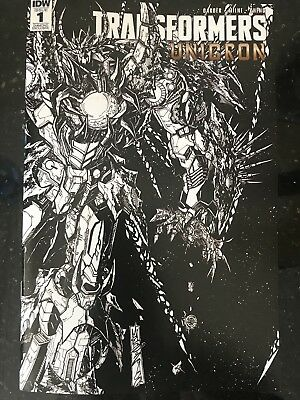IDW Transformers UNICRON #1 Milne BW Variant 2018 SDCC Exclusive Retailers