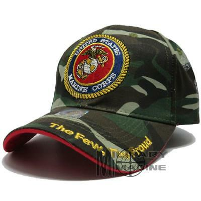 US Marine Corps Hat Official Licensed Baseball military Ball Cap USMC Camo