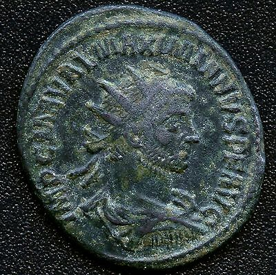 "Ancient Roman Coin "" Maximianus / Clememtia "" 286 - 310 A.D. 23 mm Diameter"