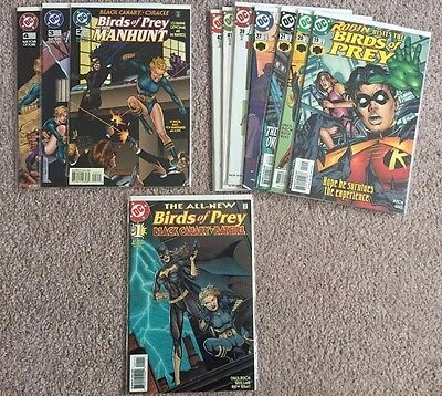 Birds of Prey lot of 11 different issues Batgirl Catwoman Oracle Huntress