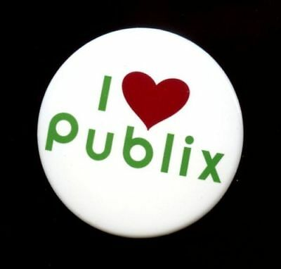 """Publix """"I Heart Publix"""" Pin Collectible Green/White/Red - NEVER WORN"""
