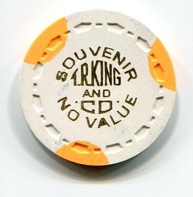 T R KING Manufacturers Scarce sample Casino Chip small crown 1950s?