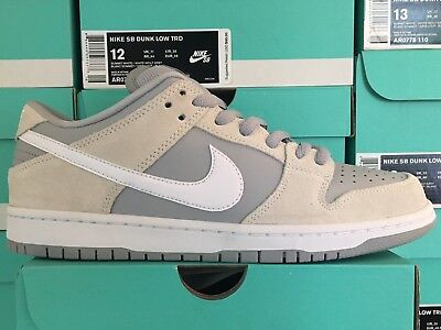 detailed look 7cddd 3119e NIKE SB DUNK Low TRD Summit White Wolf Grey AR0778-110 Sizes 9.5-12 ...