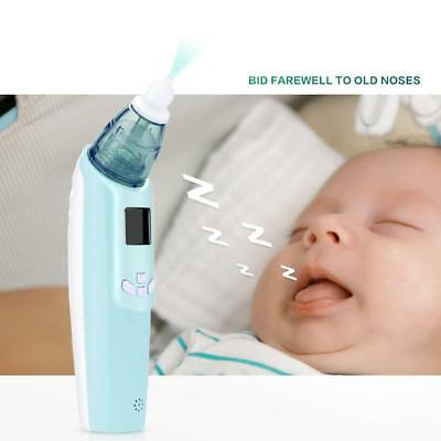 Baby Nasal Aspirator Electric Nose Cleaner With LCD Screen Light Safe Hygienic