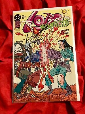 Lobo Infanticide #4~Limited Series~Signed By Writer Kieth Giffen~