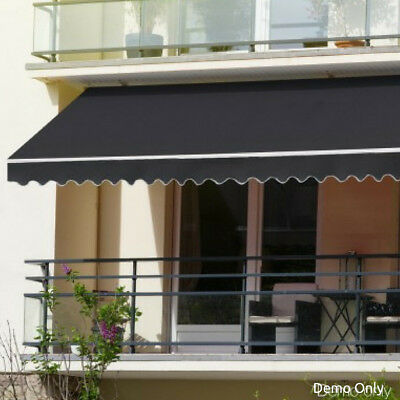 Outdoor Patio Retractable Folding Arm Awnings Sunshade Fabric Canopy 3x2.5m Grey