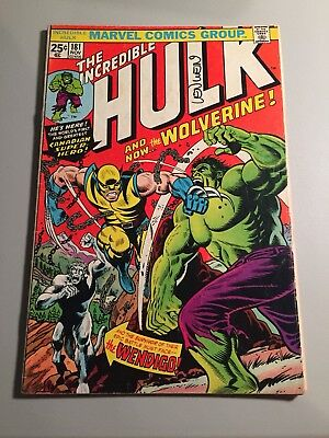Incredible Hulk #181 • 1St Wolverine • Vg+ Signed By Len Wein