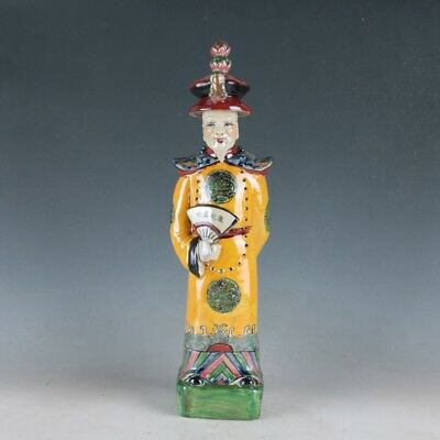 China Porcelain Hand Carved Ancient Chinese Officials Statue /HDH023
