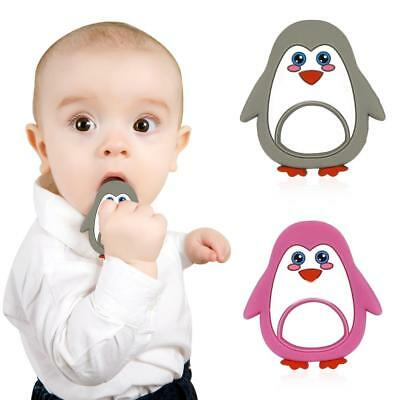 Safety Food Grade Silicone Penguin Baby Chew Teething Toy Teether Grind Baby UK