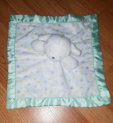 Child Of Mine Stars Lamb Security Baby Blanket White Green Carters Lovey Rattle