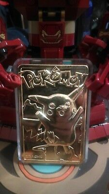 23k Gold Plated Pikachu #025 Burger King Pokemon Cards, no ball or certificate.