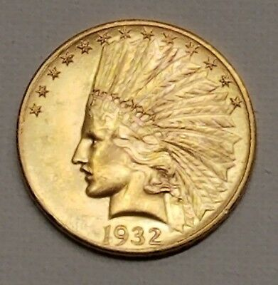 1932 Indian Head $10 Gold Coin