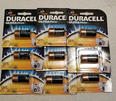 9x CR123 Battery Lithium Photo CR123A NIP 3V DURACELL Ultra