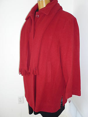 NWT, $275, wool fully lined red coat/jacket size 2X/22W by Nuage
