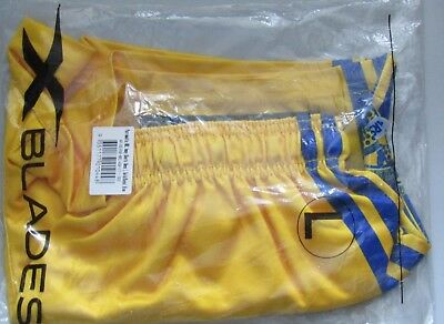Yellow Parramatta NRL away shorts large
