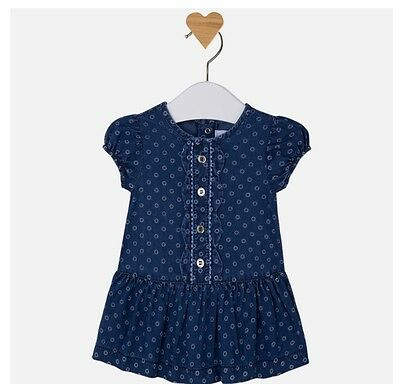 New Baby Girl Denim style dress with buttons age 1-2 months. 1867