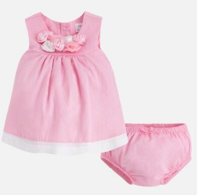 New Mayoral Baby Girl dress and knickers, Age 1-2 Months (1830)