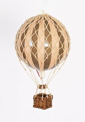 Authentic Models Holiday Edition Hot Air Balloon In Gold/Ivory 3.25""