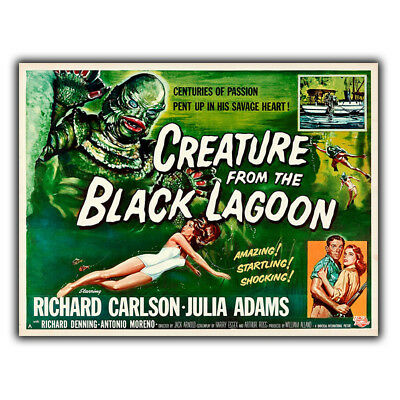 CREATURE FROM THE BLACK LAGOON METAL SIGN 8x10in shop bar home cinema horror