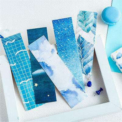 30pcs Blue In The World Bookmarks Card Holder Note Message Paper Supplies Hot