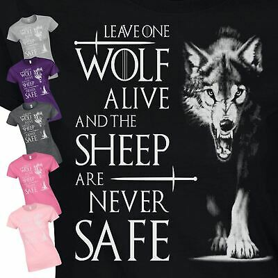 Leave One Wolf Ladies Fancy Dress Present Womens Top Inspired GIft T-Shirt