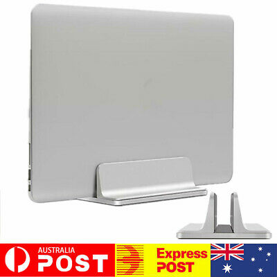 Aluminum Vertical Laptop Stand Adjustable Desktop Holder Space-Saving f/ MacBook