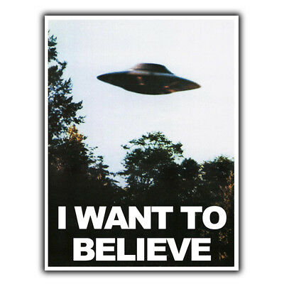 The X-FILES I WANT TO BELIEVE UFO METAL SIGN WALL PLAQUE metal print man cave