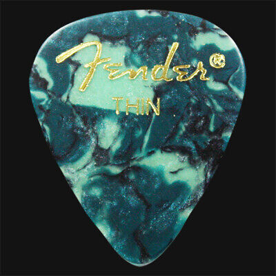 Fender Ocean Turquoise Thin Guitar Picks / Plectrums - Choice Of Quantities