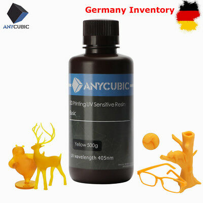 *DE STOCK* ANYCUBIC 405nm UV Sensitive Resin for SLA/LCD 3D Printer 500ml Yellow