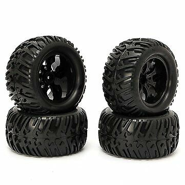 4PCS Wheel Rim & Tires HSP 1:10 Monster Truck RC Car 12mm Hub 88005 65x125mm