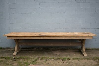 3.6m Long, French Oak Table, Kitchen Island, Vintage, Rustic, Farmhouse