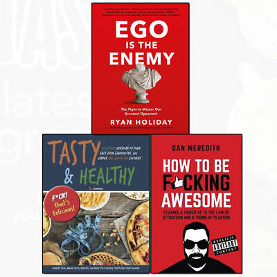 Ego is the Enemy Tasty & Healthy By Various 3 Books Collection Set NEW