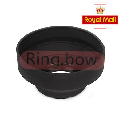 Lens Hood 72mm 3 Stages Collapse Rubber 3 in 1 For Canon Nikon Pentax Camera UK