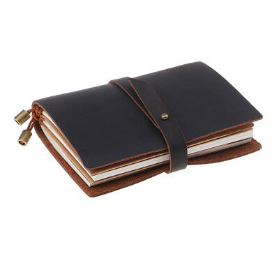 Handmade Genuine Leather Journal Notebook Daily Notepad Travels Journal Book