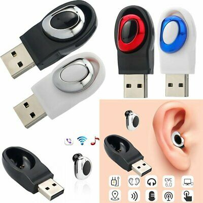 USB Mini Wireless Bluetooth Earbuds In-Ear Stereo Earphones Sport Headset USA