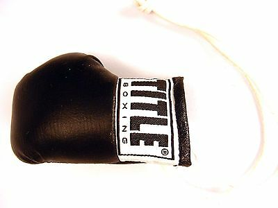Title Rear View Mirror Hanging Black Boxing Glove