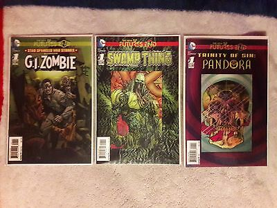 Futures End #1 Lot (3) DC, Swamp Thing, Pandora, G.I.Zombie, Free Shipping
