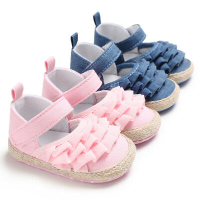 Baby Girl Crib Shoes Infant Agaric Lace First Shoes Trainers Newborn to 18 Month