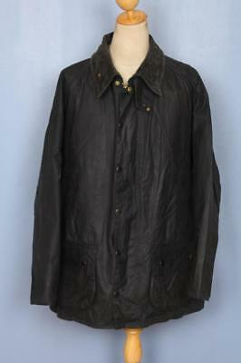 Mens BARBOUR Beaufort Waxed Jacket Navy Size 52