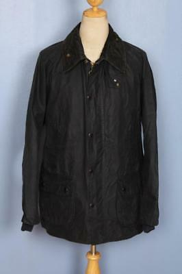 Mens BARBOUR Bedale Waxed Jacket Navy Size 46