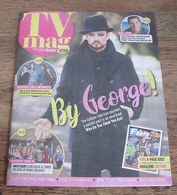Boy George TV Magazine Cover and Feature July 21 2018.