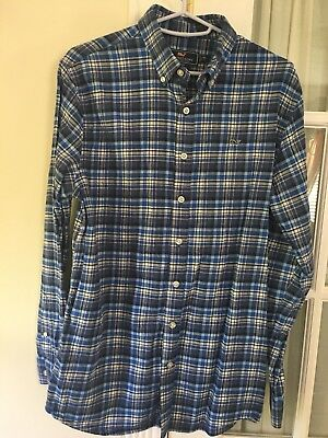 Vineyard Vines Boys Long sleeve Button Down Shirt NWOT XL flannel Light Weight