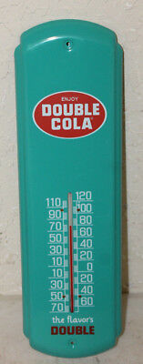Double Cola Thermometer Sign Vintage Style Country Store Advertising Man Cave