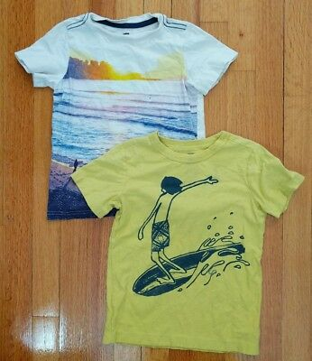 Tea Collection Boys Surfs Up  Shirts lot Sz 5