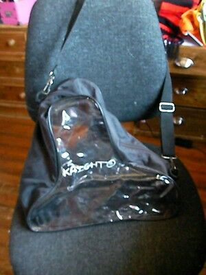 Ice Skate Bag. Gwc By Skate.r.99P With Handle Clear At Front And Back.