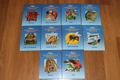 Disney The Wonderful World of Knowledge 10 Books Very Good Condition